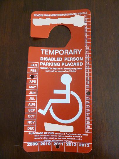 new disabled temp